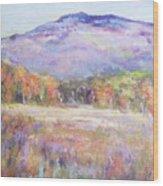 Monadnock In Spring Color Wood Print