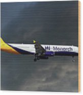 Monarch Airlines Airbus A321-231 Wood Print