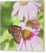 Monarch Butterfly Art Wood Print