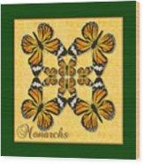 Monarch Butterfly Pin Wheel Wood Print
