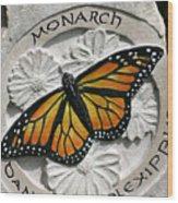 Monarch Wood Print by Ken Hall