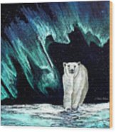 Monarch Of His Arctic Domain Wood Print by Dianne Roberson