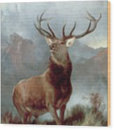 Monarch Of The Glen Wood Print