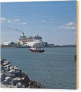 Monarch Of The Seas At Port Canaveral In Florida Wood Print