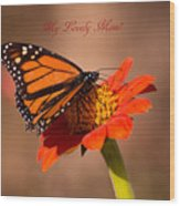 Monarch On Tithonia Mother's Day Gifts Wood Print