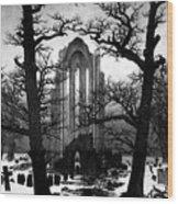 Monastery Graveyard In The Snow Cdf Wood Print