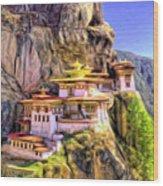 Monastery In Bhutan Wood Print