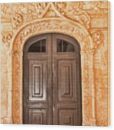 Monastery Of Jeronimos Door Wood Print