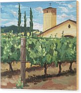 Mondavi Vineyard, Napa Wood Print