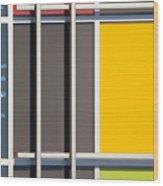 Mondrian Style Wood Print