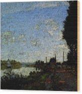 Monet Argenteuil  Wood Print