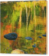 Monet Autumnal Wood Print