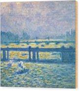 Monet: Charing Cross Wood Print