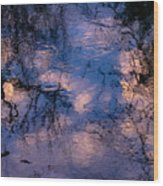 Monet On The Water Wood Print