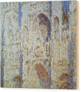 Monet: Rouen Cathedral Wood Print
