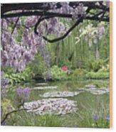 Monet Water Garden Wood Print