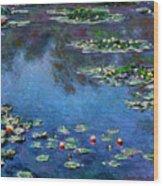 Monet: Waterlilies, 1906 Wood Print