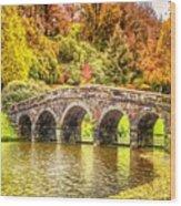 Monetcalia Catus 1 No. 9 - Monet Decides To Paint The Arched Bridge At Stourhead. L A S Wood Print
