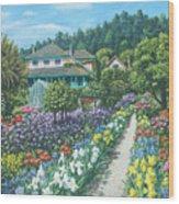 Monet's Garden Giverny Wood Print