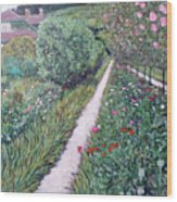 Monet's Garden Path Wood Print
