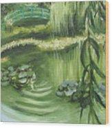 Monet's Garden Wood Print