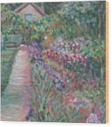 Monet's Gardens Wood Print