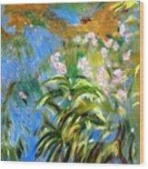 Monet's Irises Wood Print