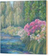 Monet's Pond Wood Print