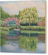 Monet's Summer Garden No.2 Wood Print
