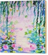 Monet's Water Lily Pond  Wood Print