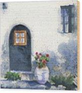 Monevasia Doorway Wood Print