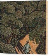 Money Forest Wood Print