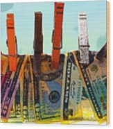 Money Laundering  Wood Print