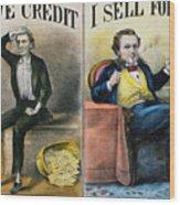 Money Lending, 1870 Wood Print