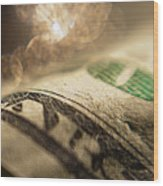 Money With Bokeh Wood Print