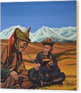 Mongolia Land Of The Eternal Blue Sky Wood Print