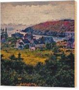 Monhegan Island Maine Wood Print