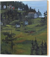 Monhegan View From Lighthouse Hill Wood Print