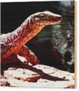 Monitor Lizard Wood Print