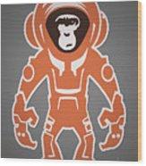 Monkey Crisis On Mars Wood Print