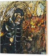 Monkey Demon Wood Print
