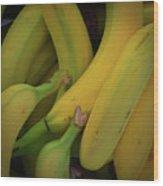 Monkey Food Wood Print