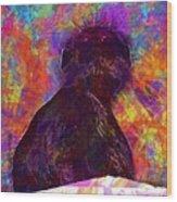Monkey Mom Langur Hanuman Langur  Wood Print
