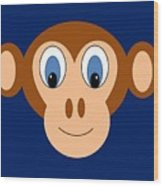 Monkeying Around Wood Print