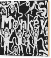 Monkeys Maze For M Wood Print