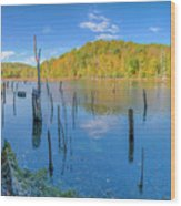Monksville Reservoir Fall 2016 Wood Print