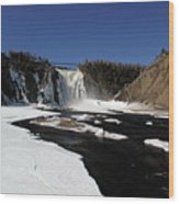 Montmorency Fall, Winter Wood Print