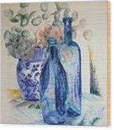 Monnaie Bleue Wood Print