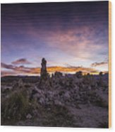Mono Lake Sunset 5 Wood Print