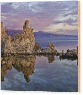Mono Lake Sunset Wood Print